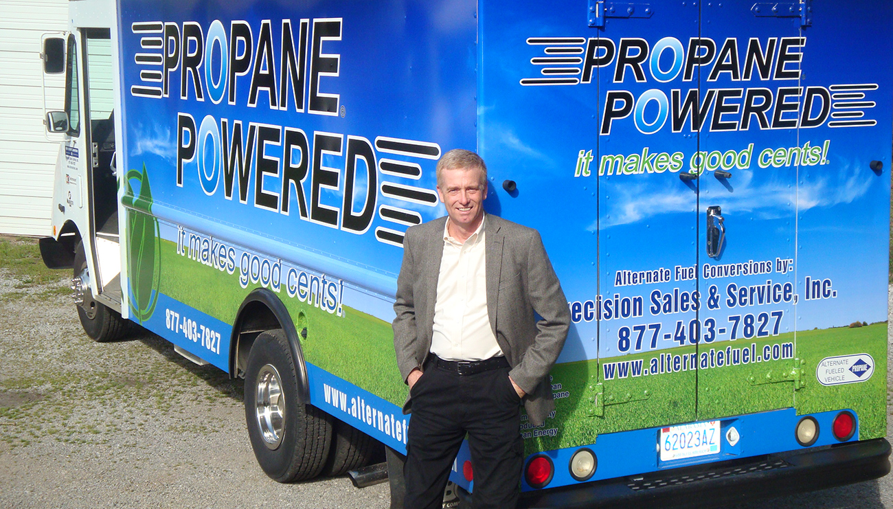 precision sales & service propane powered van
