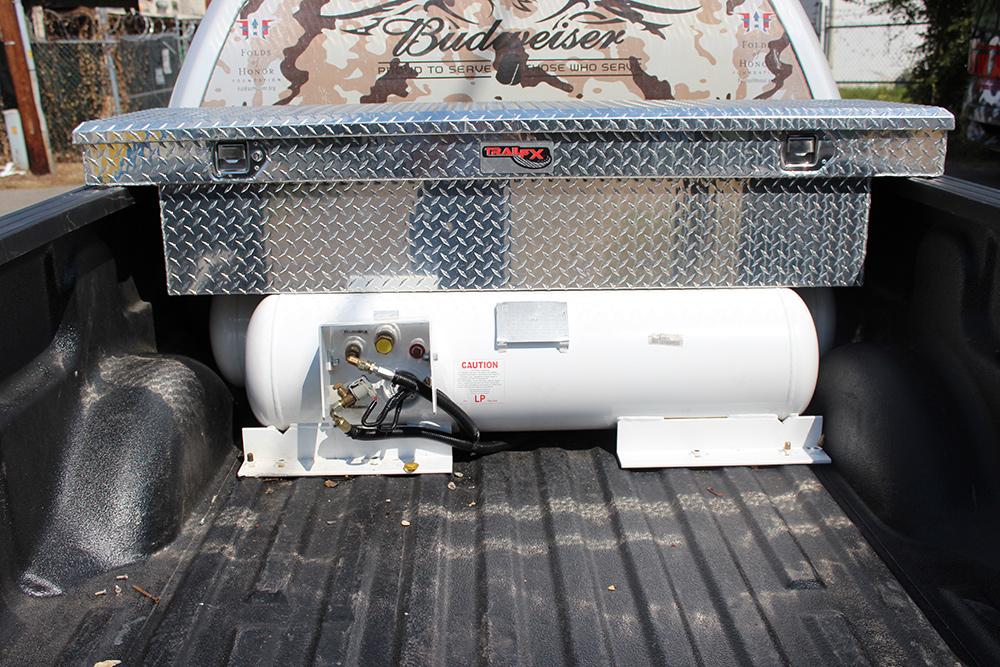 truck bed propane tank